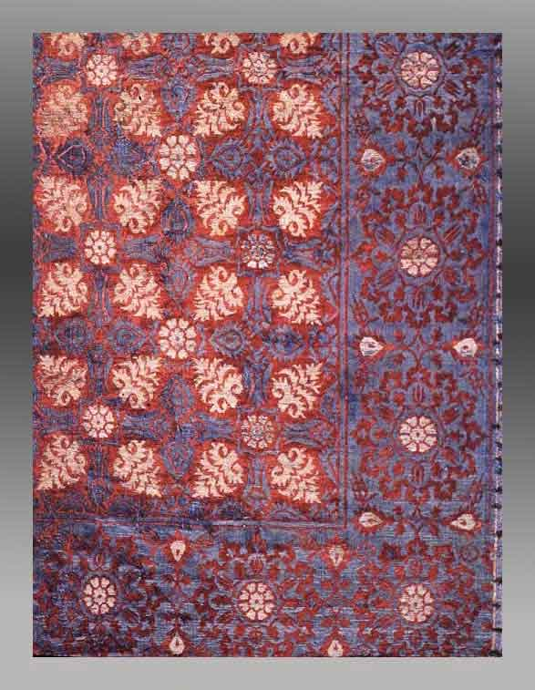 Silk And Wool Ottoman Textile Designs In Turkish Rugs