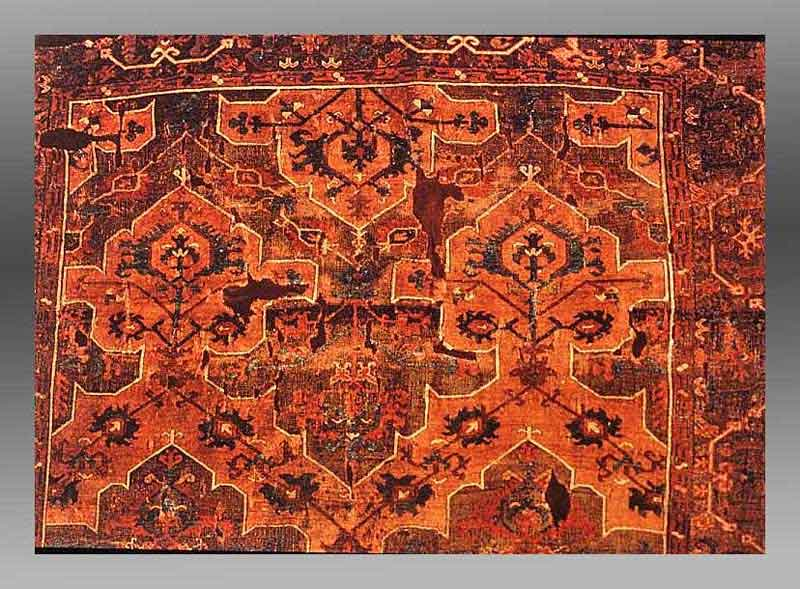 Knotted Pile Wool Rug Turkey 17 18th Century Musee Des Arts Decoratifs Paris